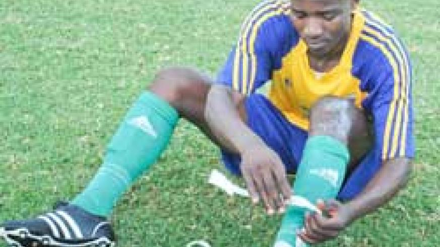 READY TO BATTLE: The U-23 team captain Aimable Rucogoza believes Rwanda has  a good chance to beat Zambia  in Lusaka. (File photo)