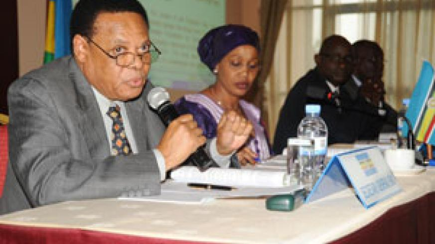 Juma Mwapachu during the opening of the Council of Ministers' Meeting on Wednesday (File Photo)