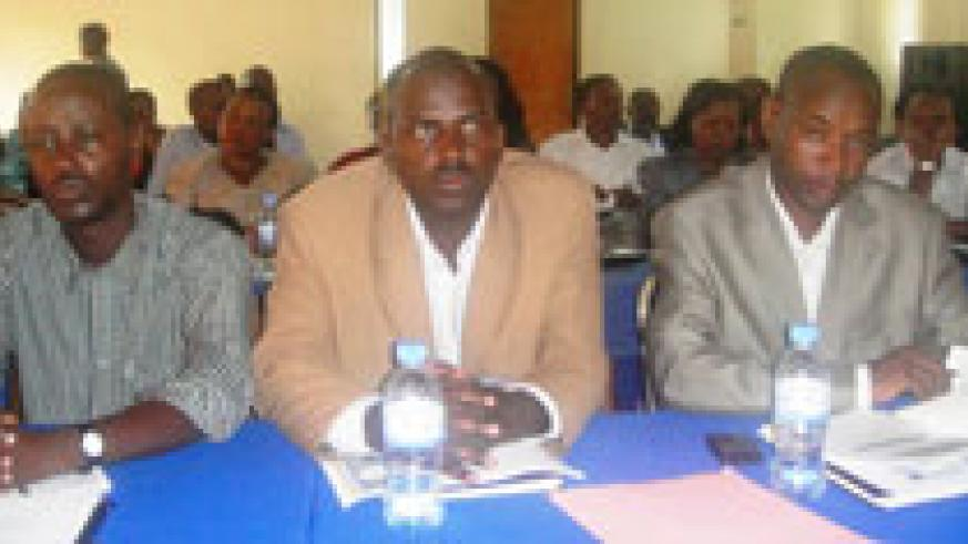 District Mayors at the meeting. (Photo S. Rwembeho)