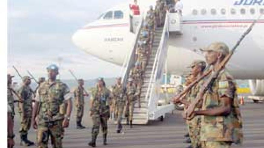 Memebers of RDF arriving from Darfur (File Photo)