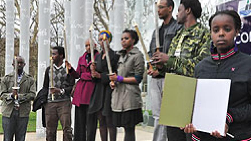 Rwandans in France commemorating the 1994 Genocide against the Tutsi at a previous event (courtesy photo)