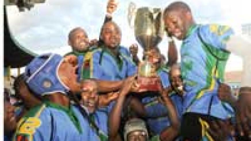 Silverbacks celebrate shortly after winning last year's CAR 15s tournament. The team has been promised more support from the Sports Ministry. (File photo)
