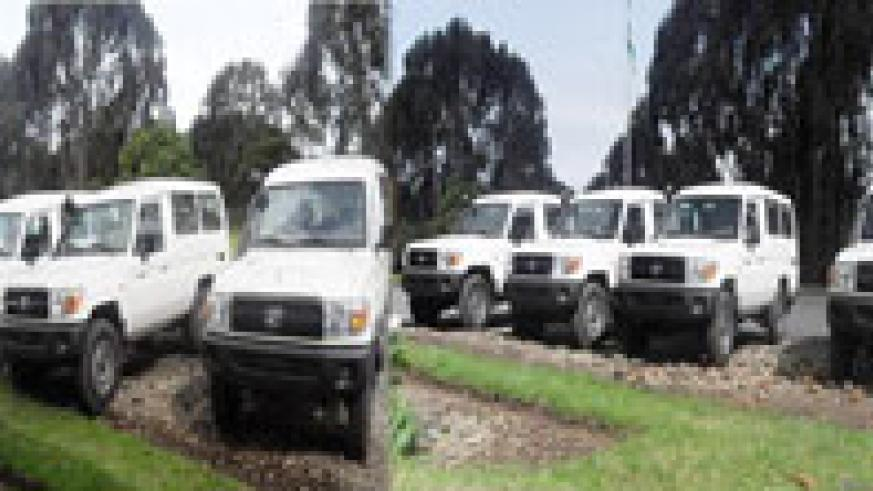 The confiscated vehicles parked at Mukamira Police Station (courtesy Photo)