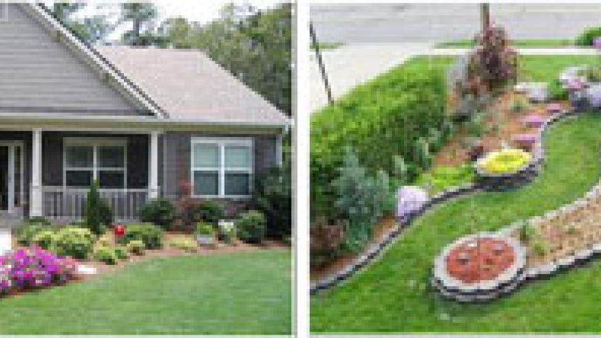 L-R: Front-Yard-Landscaping; front yard