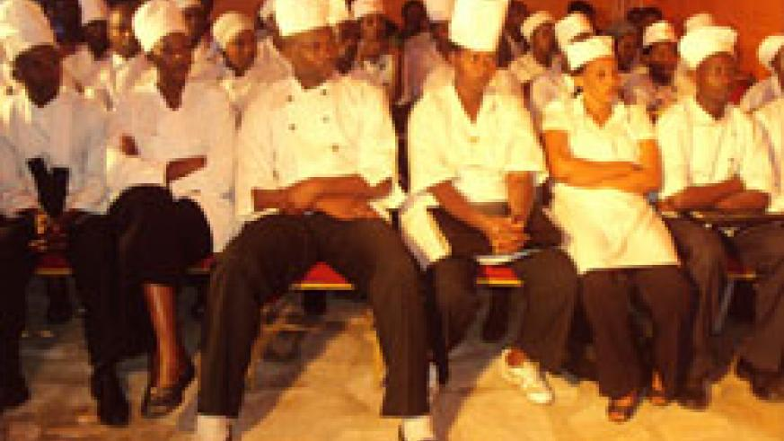 Hotel and Restaurant workers during the launch (Photo; G. Mugoya).