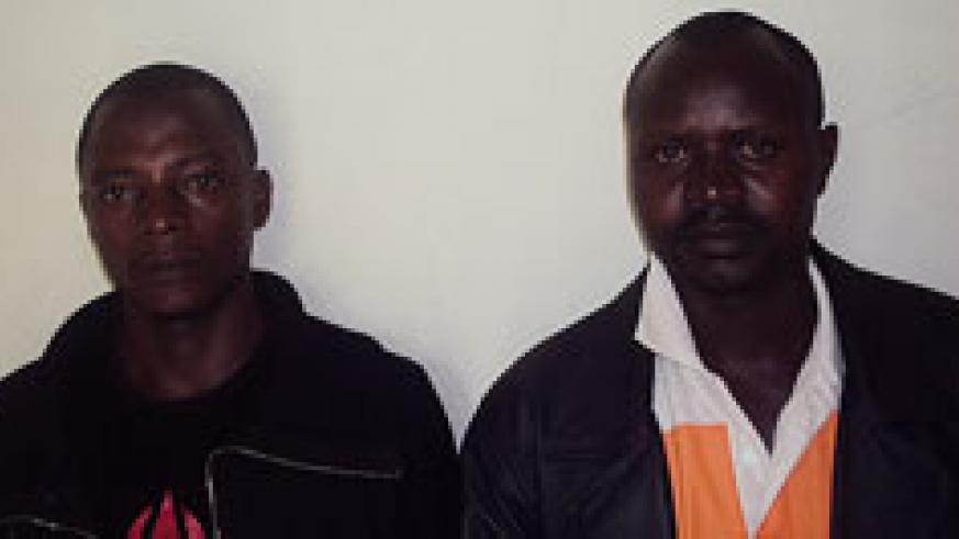 Masabo and his accomplice at the Rusizi Police station