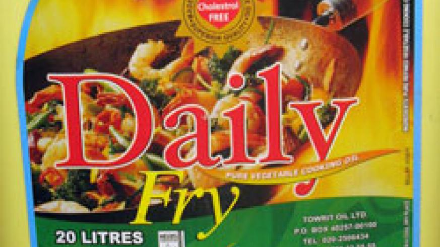 A 20 litre container of the Daily Fry cooking oil which has been declared fit for consumption (File photo)