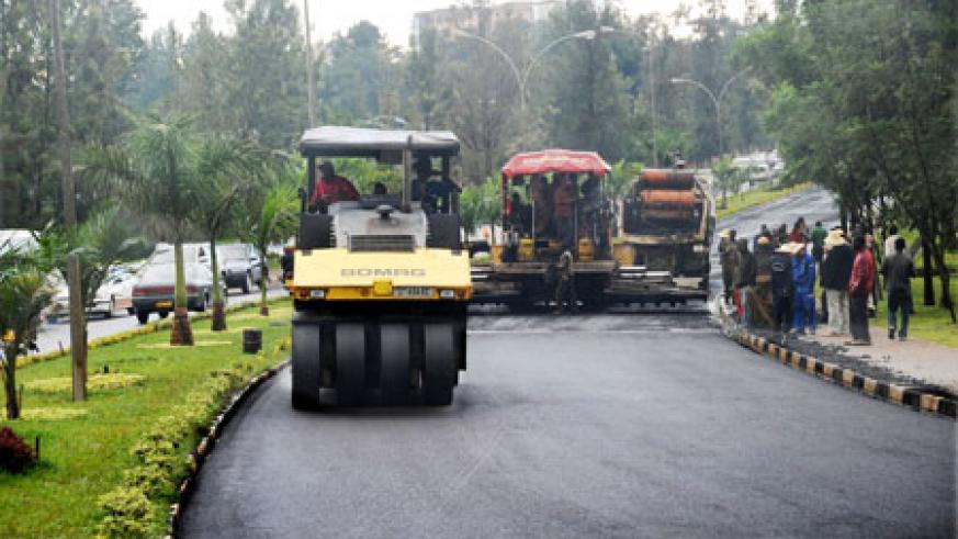 Rehabilitation work being carried out along the Kimihurura-Airport road. (Photo J Mbanda).