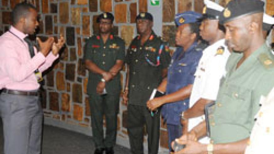 The Ghanaian officers during a tour of Gisozi Memorial site who later proceeded to Western Province (File Photo).
