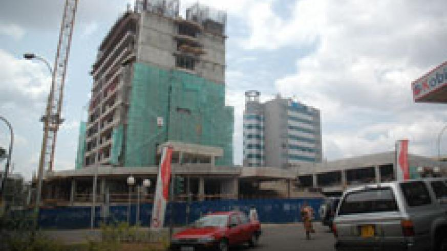 Insurance Plaza. One of the projects expected to bridge the shortage of commercial buildings in kigali. (File photo)