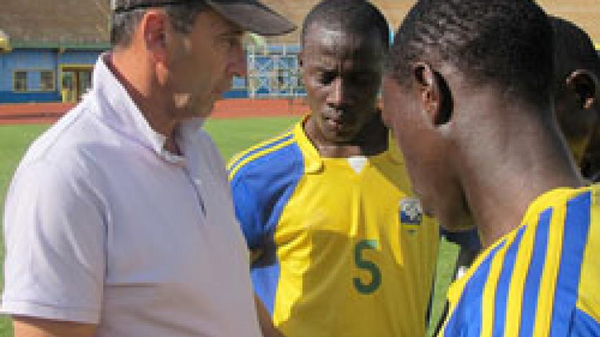 Richard Tardy (L) is expected to have his first look at Arsenal starlet Alfred Mugabo this afternoon. (File Photo).