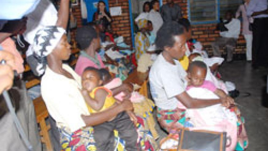 Mothers at a health Centre. Most of the diseases reported in health facilities are related to malaria (File Photo).