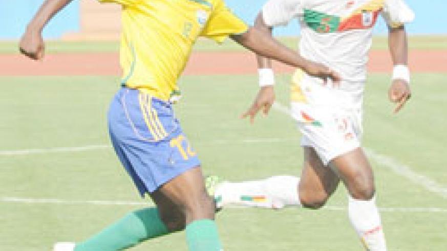 APR's Atuheire Kipson (L) could be overlooked for Burundi's return leg. (File Photo)