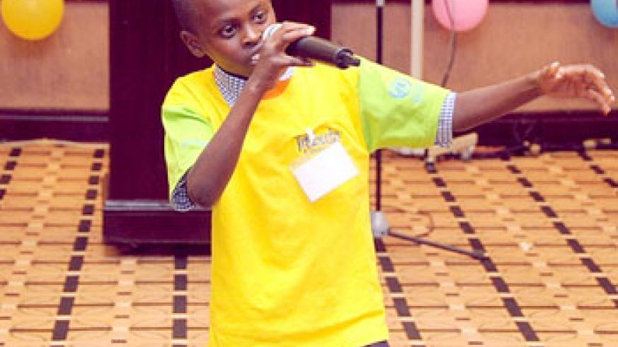 Kids have talent. A buy sings to express himself.