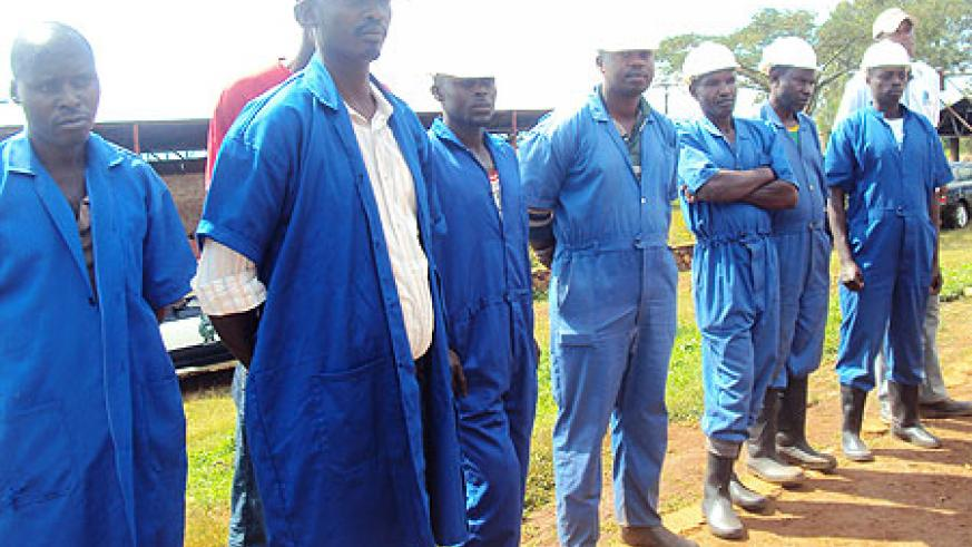 The miners interacted with the Governor, Dr Kirabo ( Photo S. Rwembeho)