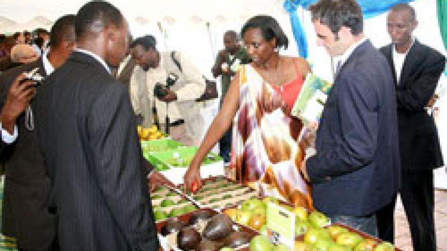 Agriculture Minister, Agnes Kalibata, during last year's agro-business investment forum (File photo).