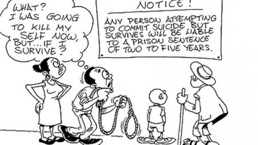 According to lawmakers, failed suicide is categorised as attempted murder.