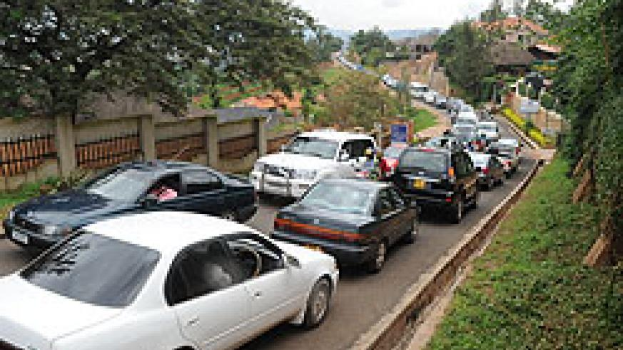 Traffic jams have prompted KCC to restrict upcountry buses from commuting to the city centre (Photo T Kisambira)