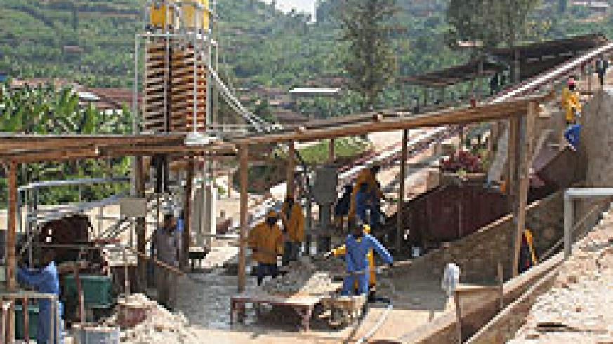 Mining activities in Gatumba Sector Ngororero District. An Indian mining giant will soon set up a refinery in Rwanda (File Photo)