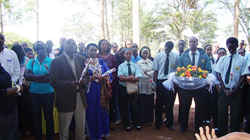 Sudents and Staff of Green Hills Academy at the Ntarama memorial site. (Courtesy photo)