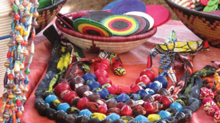 Colourful jewelry made by rural women.