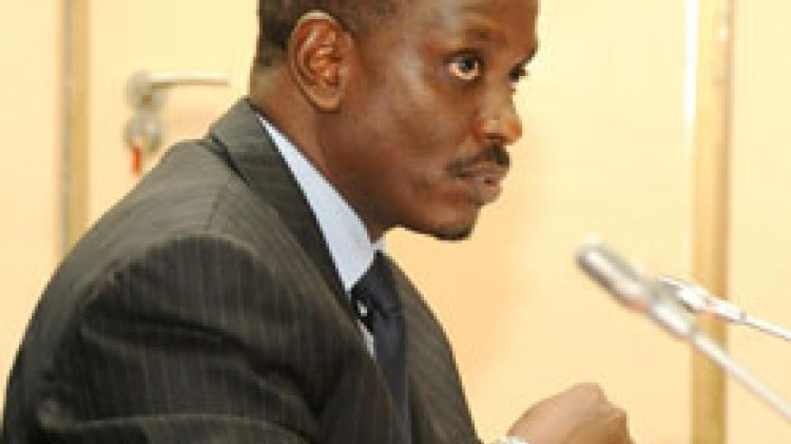 EAC head, Dr Richard Sezibera, held his first press conference (Photo File).