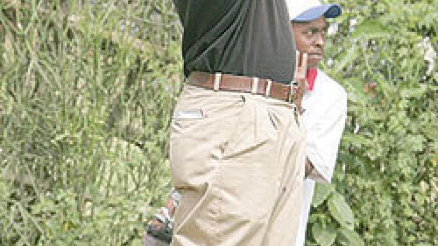 Hakizimana carded two-under par 70 yesterday. (File photo)