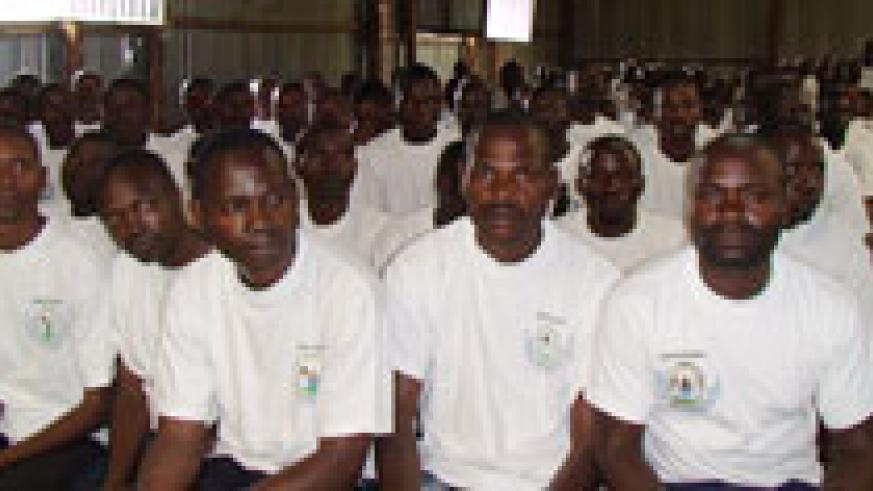 Ex combatants pass-out after completing training.Photo B Mukombozi