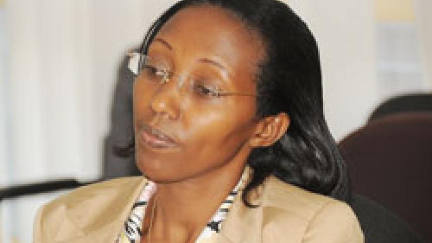 State minister in charge of energy and water at the Infrastructure Coletha Ruhamya.