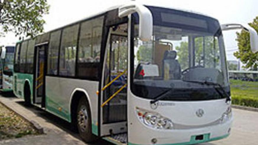The new state-of-the-art KBS buses  enroute to Kigali