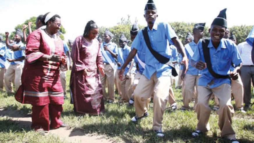 Guests join students to dance to Kitoko's beats.
