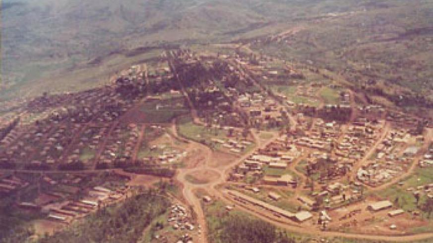 Kigali 's aerial view of 1968 years ago