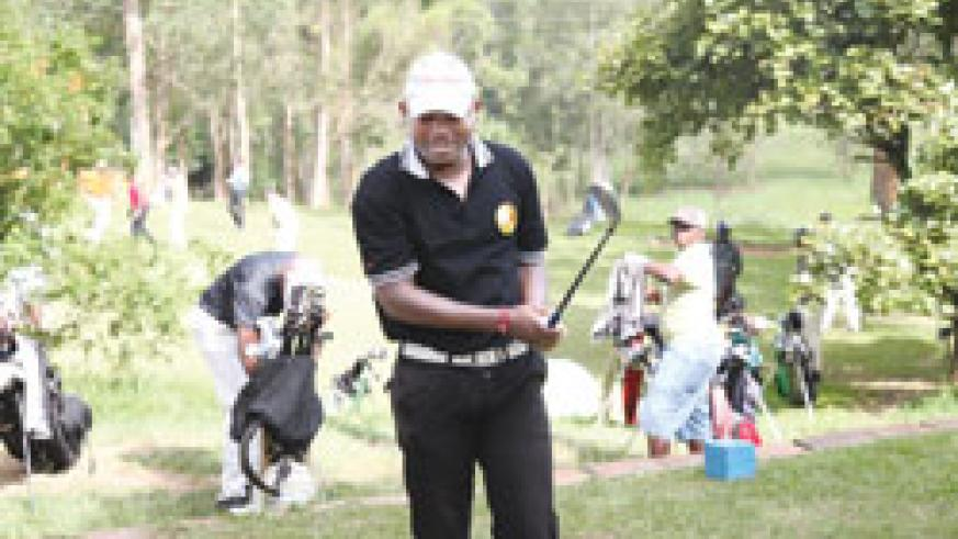 Jean Baptiste Hakizimana carded three over 75 to finish in 6th place on Day two. (Photo: T. Kisambira)