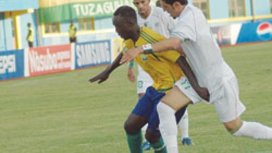 Karekezi in action during the 2010 Africa Nations Cup qualifier against Algeria. (File Photo)