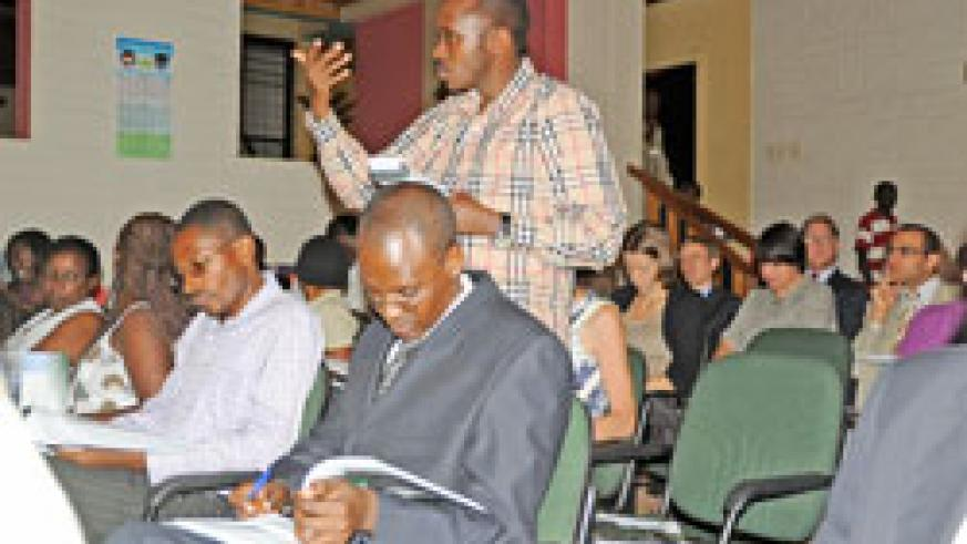 The HWR report drew numerous reactions from the audience. (photo; J. Mbanda)