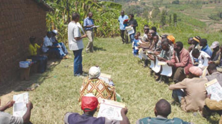 Continuous village meetings where residents and leaders meet to discuss projects is one of Government's initiatives to improve service provision across the country (File photo).