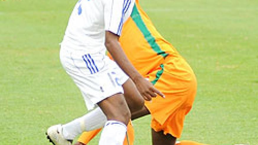 Mico in action during the Caf U-17 Championship. He scored Rwanda's opener yesterday. (File Photo)