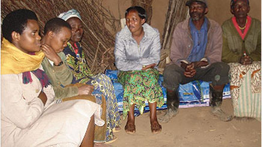 Members of the Social Therapy groups in Gicumbi district are re-uniting with their families. (Courtesy Photo)