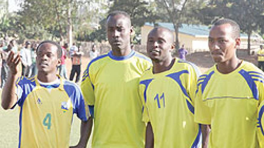 TROUBLED LOT: Amavubi players during one of their training sessions in the build-up to the return leg qualifier against Burundi.(Photo / T. Kisambira)