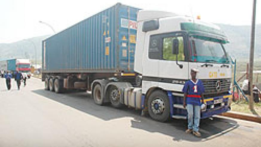 Trucks have been called on to stop after Nyungwe forest to allow drivers get some rest (File photo)