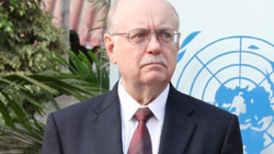 Roger Meece, the head of UN Mission in D.R.Congo. (Net Photo)