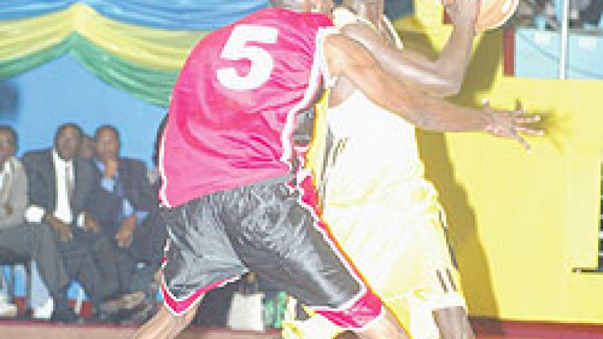 Fiston Muhire (with the ball) will lead KBC's offense today. (File photo)