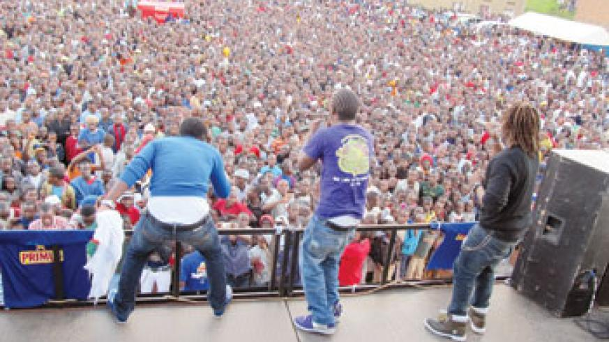 Urban Boyz take to the stage during a past show. (File photo)