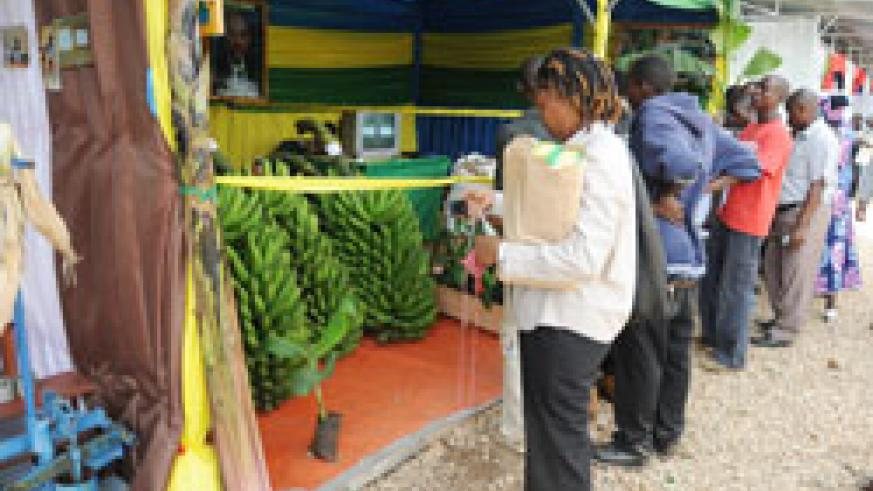 The ongoing agricultural expo in Mulundi, Gasabo District  has showcased the country's growing agricultural sector (File Photo)
