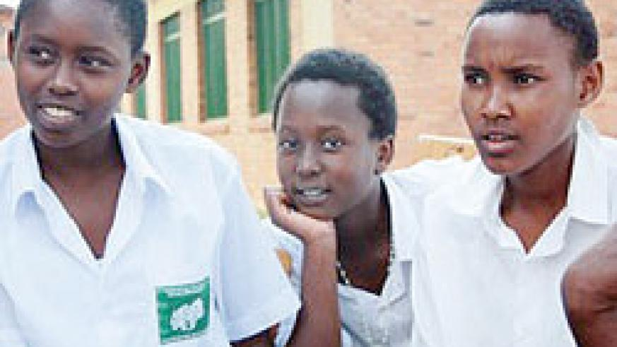 Students at FAWE girls school.