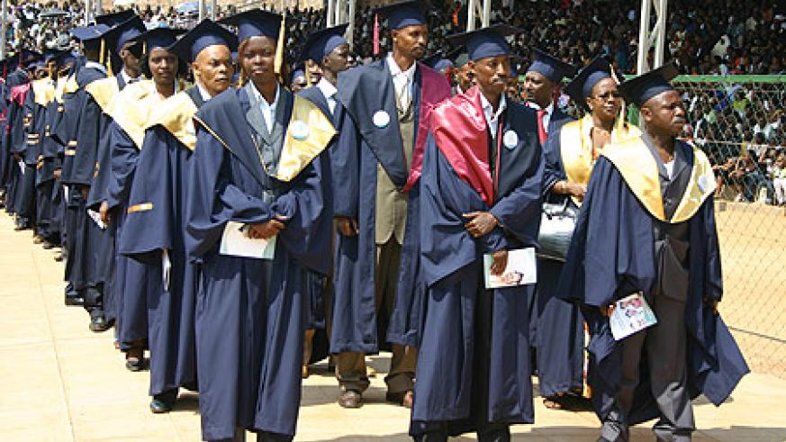 Graduants from INILAK at a recent ceremony. The institution will soon introduce a course in cooperative management (File Photo)
