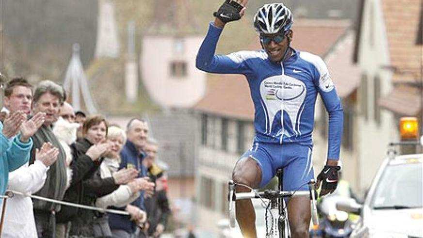 UNSTOPABLE Eritrea's Daniel Teklehaimanot cruised to this year's Kwita Izina title yesterday. (Net.Photo)