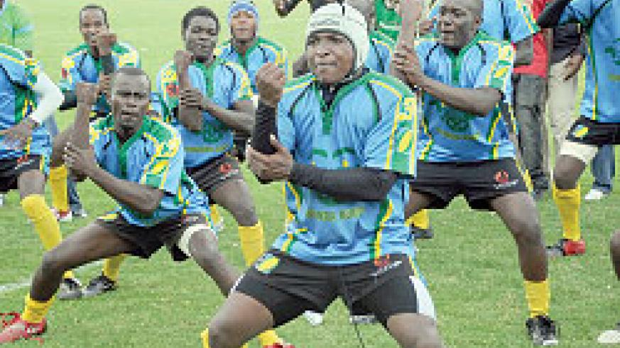 Silverbacks players doing their trademark 'hulk' prior to last year's CAR-15s tournament. (File Photo)