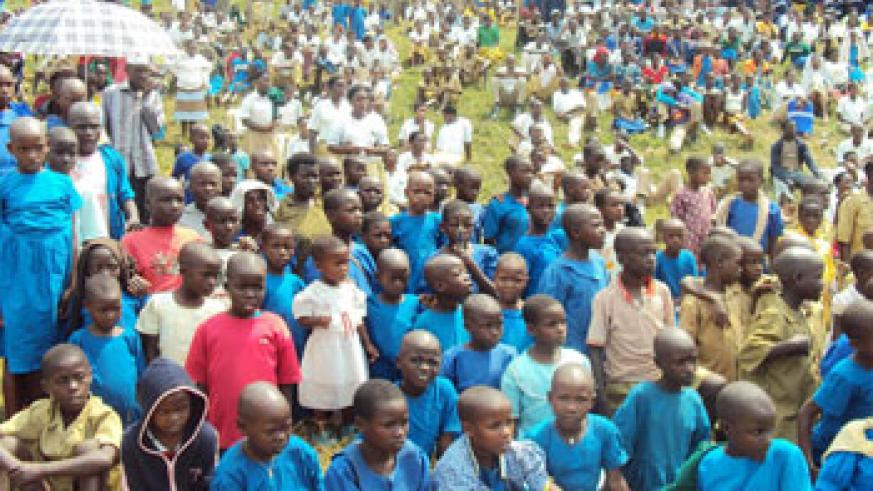Children in Musanze attend Day of African Child celebrations last year.(File photo)