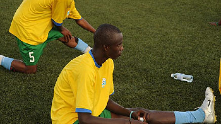 Defender Faustin Usengimana  injured his knee in training on Thursday and will miss the opening game England.